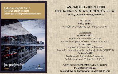 """Publicación del libro """"Espacialidades en la intervención social. Debates para el Trabajo Social Latinoamericano"""""""